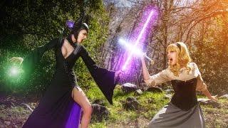 Maleficent VS. Aurora (Lightsaber Duel)