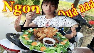 Hùng Huynh TV |Nấu Món Gà Rang Siêu Cay Khổng Lồ (Chicken Roasted with Citrus Tree)