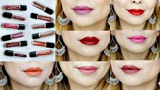Chambor Extreme Wear Transferproof Liquid Lipstick | All 18 Shades Swatches & Review