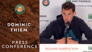 Dominic Thiem - Press Conference after Final   Roland-Garros 2019