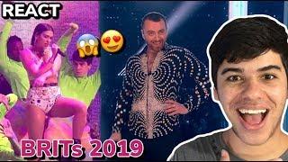 REACT Dua Lipa, Sam Smith e Calvin Harris - One Kiss / Promises  (Live BRITs Awards 2019)