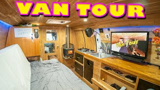 STEALTH VAN LIFE TOUR | Extremely ORGANIZED Cargo Van Conversion