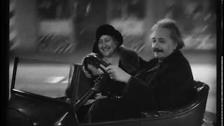 Albert Einstein Driving a Flying Car - 1931