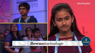 2018 Scripps National Spelling Bee Winning Moment