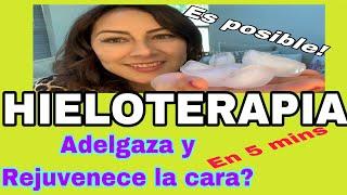 HIELOTERAPIA** Rejuvenece Y Adelgaza  LA CARA** EN MINUTOS😱FUNCIONA?