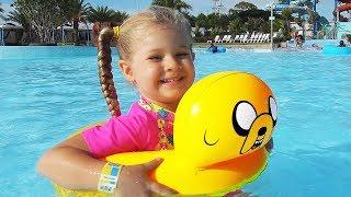 Diana and Papa have fun at the water park