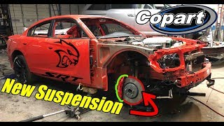 Rebuilding my wrecked charger hellcat part 2