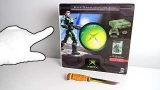 """Original Xbox """"HALO"""" Console Unboxing (Limited Edition) + Halo: Reach Collector's Edition"""