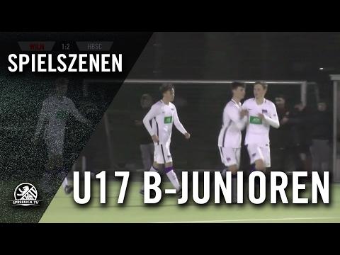 1. FC Wilmersdorf - Hertha BSC (U17 B-Junioren, Achtelfinale, Pokal der B-Junioren 2016/2017) - Spielszenen | SPREEKICK.TV