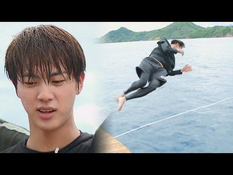 공중 3회전 점프로 우승한 방탄소년단 진 '다이빙 승자' @김병만의 정글의 법칙 248회 20170113