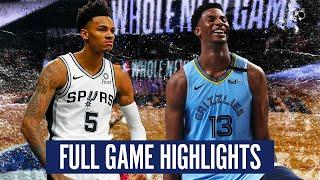 SAN ANTONIO SPURS vs  MEMPHIS GRIZZLIES - FULL GAME HIGHLIGHTS | 2019-20 NBA Season