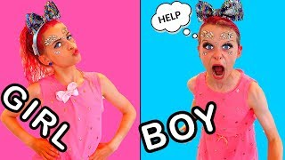 MAKE UP TWIN TELEPATHY BOY VS GIRL Sibling Challenge By The Norris Nuts