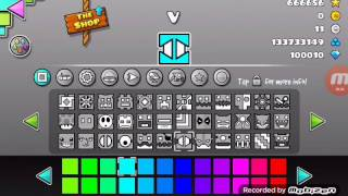 All icons of Geometry Dash 2.1
