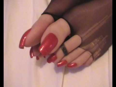 Shiny sexy long nails smoking hot 2