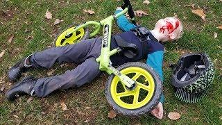 Epic Bike Crash - Tommy's balance bike FAIL!