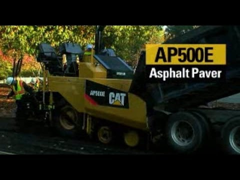 Learn about the Cat AP500E & AP555E asphalt paver