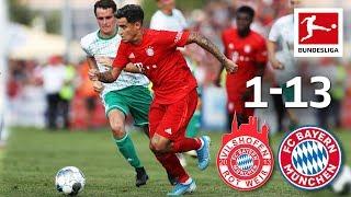 Coutinho's first Goal for Bayern   FC Bayern München 13-1 Vilshofen   Highlights