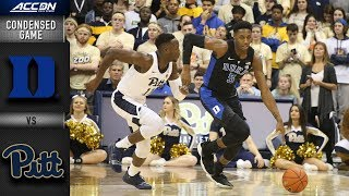 Duke vs. Pittsburgh Condensed Game   2018-19 ACC Basketball