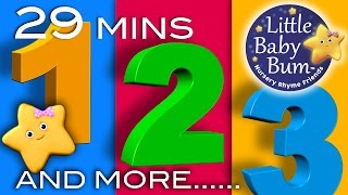 Numbers Songs   And More!   29 Minutes Collection of Learning 123s Videos from LittleBabyBum!
