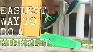 EASIEST WAY to do a KICKFLIP on a Pennyboard!