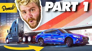 We FINALLY Drove Under a SEMI TRUCK!   How to Stunt - PART 1