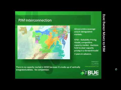 Webinar- Duke utility moves to PJM