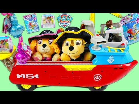 Paw Patrol Pirate Chase and Sky Search for Treasure in Sea Patroller Playset!
