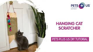 How to Make a Hanging Cat Scratcher - Tutorial