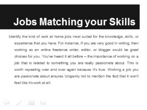 Finding Work at Home Jobs