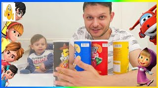 Learn Colors with Fun Pringles cans & Baby for kids & Children nursery rhymes! 2018 Vlad HD