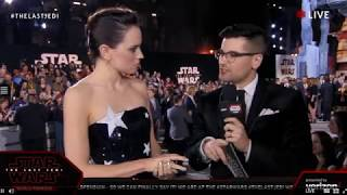 Daisy Ridley Rey interview - Star Wars The Last Jedi Red Carpet World Premiere