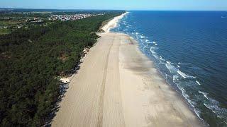 Kończy się I etap refulacji w Ostrowie. Plaże o szerokości przekraczającej 100 metrów od wejścia n