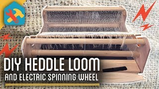 DIY Loom + Electric Spinning Wheel - Printed Tee From Scratch