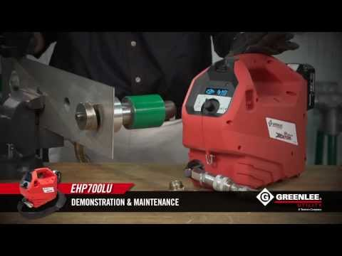 The Greenlee EHP700LU Hydraulic Battery Powered Pump
