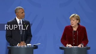 LIVE: Press conference by Barack Obama and Angela Merkel following meeting