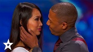 AWKWARD KISSING! America's Got Talent | Got Talent Global
