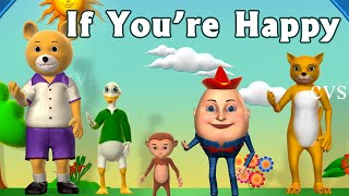 If You're Happy and You Know it Clap Your Hands Song - 3D Animation Rhymes for Children