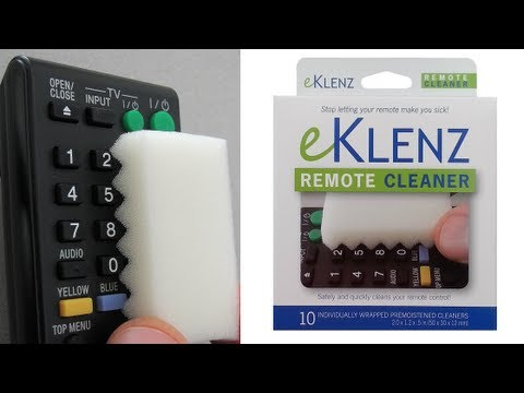 How to Clean a Keyboard, Remote Control, Game Controller, Telephone - eKlenz