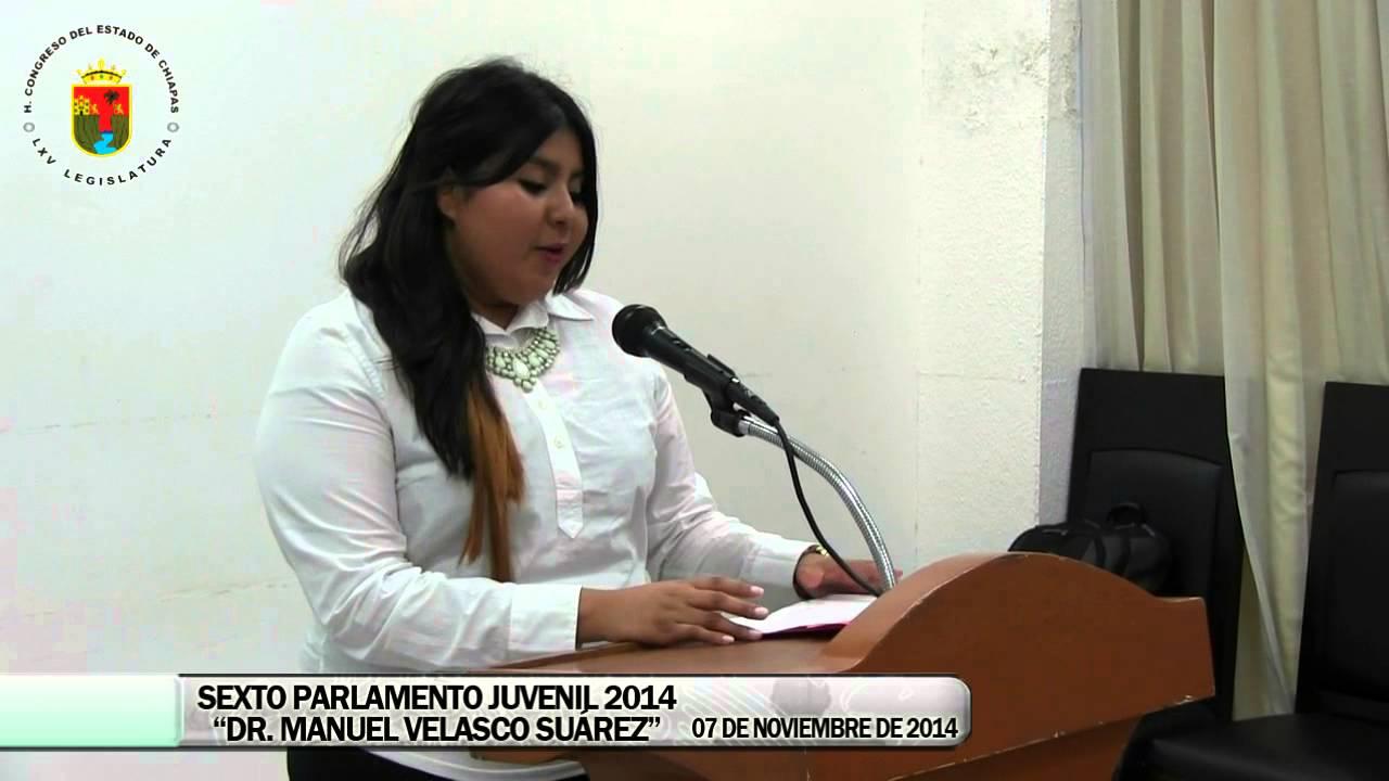 Elección del 6º Parlamento Juvenil 07 de Noviembre de 2014