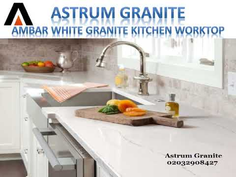 Ambar White Granite Kitchen Worktops in London | Call Us: 02032908427