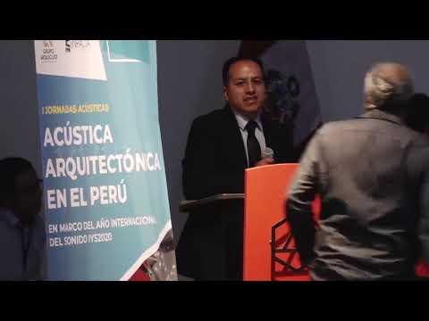 JORNADA ACÚSTICA ARQUITECTÓNICA EN EL PERÚ - DÍA 1