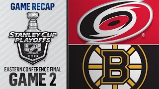 Bruins rout Hurricanes to take 2-0 lead in ECF