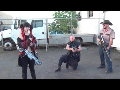 "2013 3D-Portland Zombie Walk ""Customer Parking Only"""