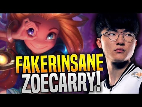 Faker Insane Hard Carry with New Champion Zoe! - SKT T1 Faker Plays Zoe with New Runes! | SKT T1