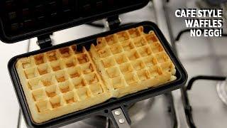 Waffle Recipe - Eggless Cafe Style NO EGG Waffles - CookingShooking