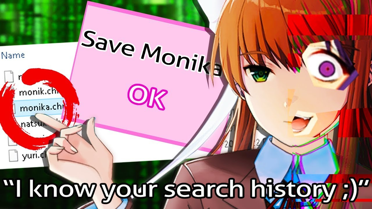 she's INFECTED my computer! I BRING BACK MONIKA 😱 - Doki Doki Literature  Club: Monika After Story