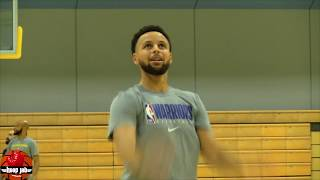 Steph Curry Sharp As Ever! Hand Rehab & Shooting Workout At Warriors Practice. HoopJab NBA