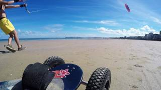 GOPRO Mountain board en bretagne ( kite )- Saint malo