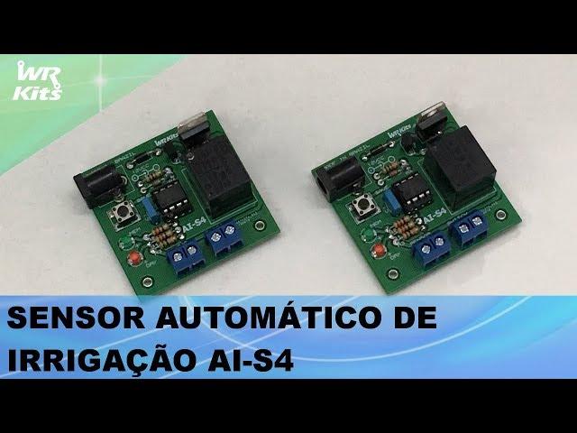 SENSOR AUTOMÁTICO DE IRRIGAÇÃO AI-S4 EM PCB DUPLA FACE
