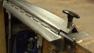 Making an Inset Bench Metal Folder/Brake